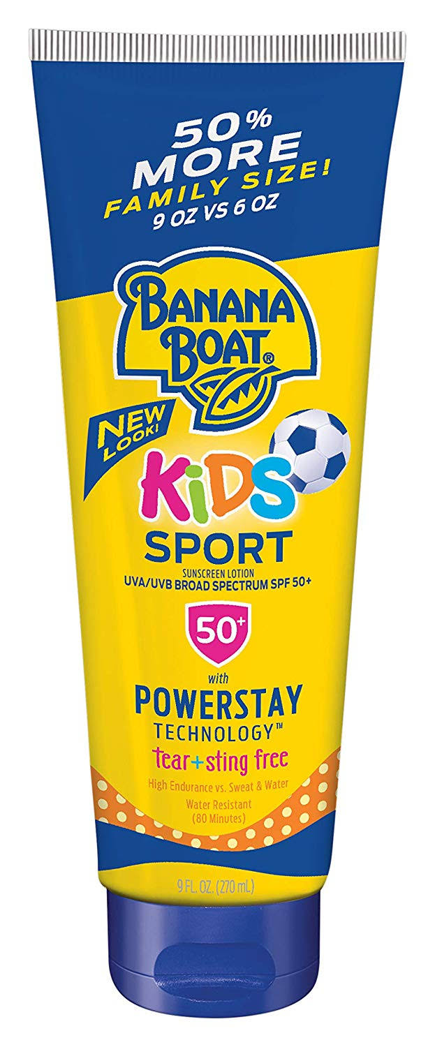Banana Boat Kids Sport Tear-Free Sunscreen Lotion, SPF 50, 9 oz