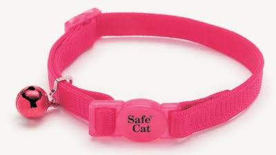 Coastal Pet Products CCP7001PKF Nylon Safe Cat Adjustable Breakaway Collar with Bells - Pink Flamingo