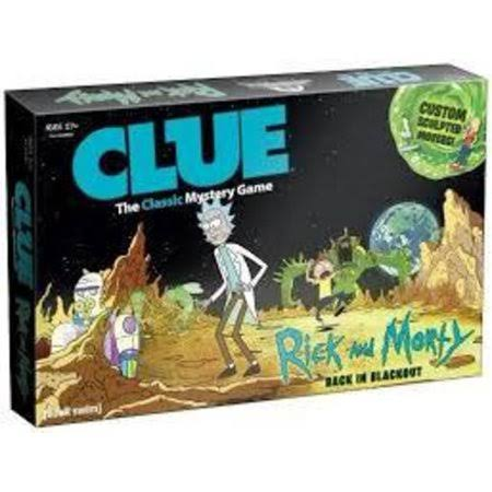 Clue Rick & Morty Edition Board Game