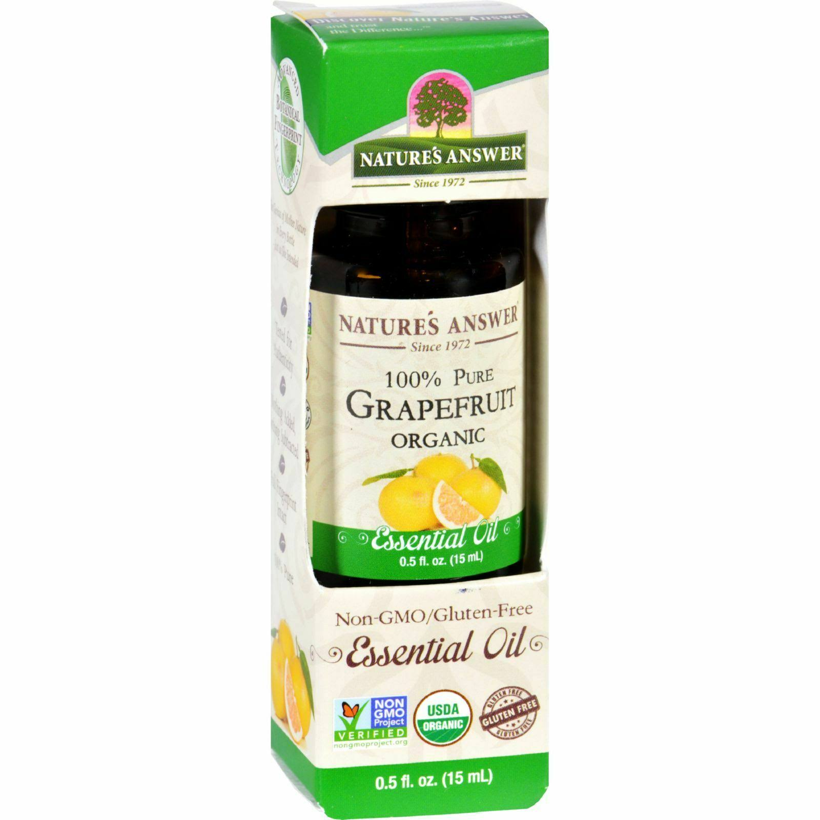 Nature's Answer Organic Essential Oil - Grapefruit, 15ml