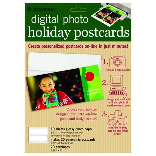 Strathmore / Pacon Papers 59617 Inkjet Cards Holiday Pastel 20 Pack 5x7