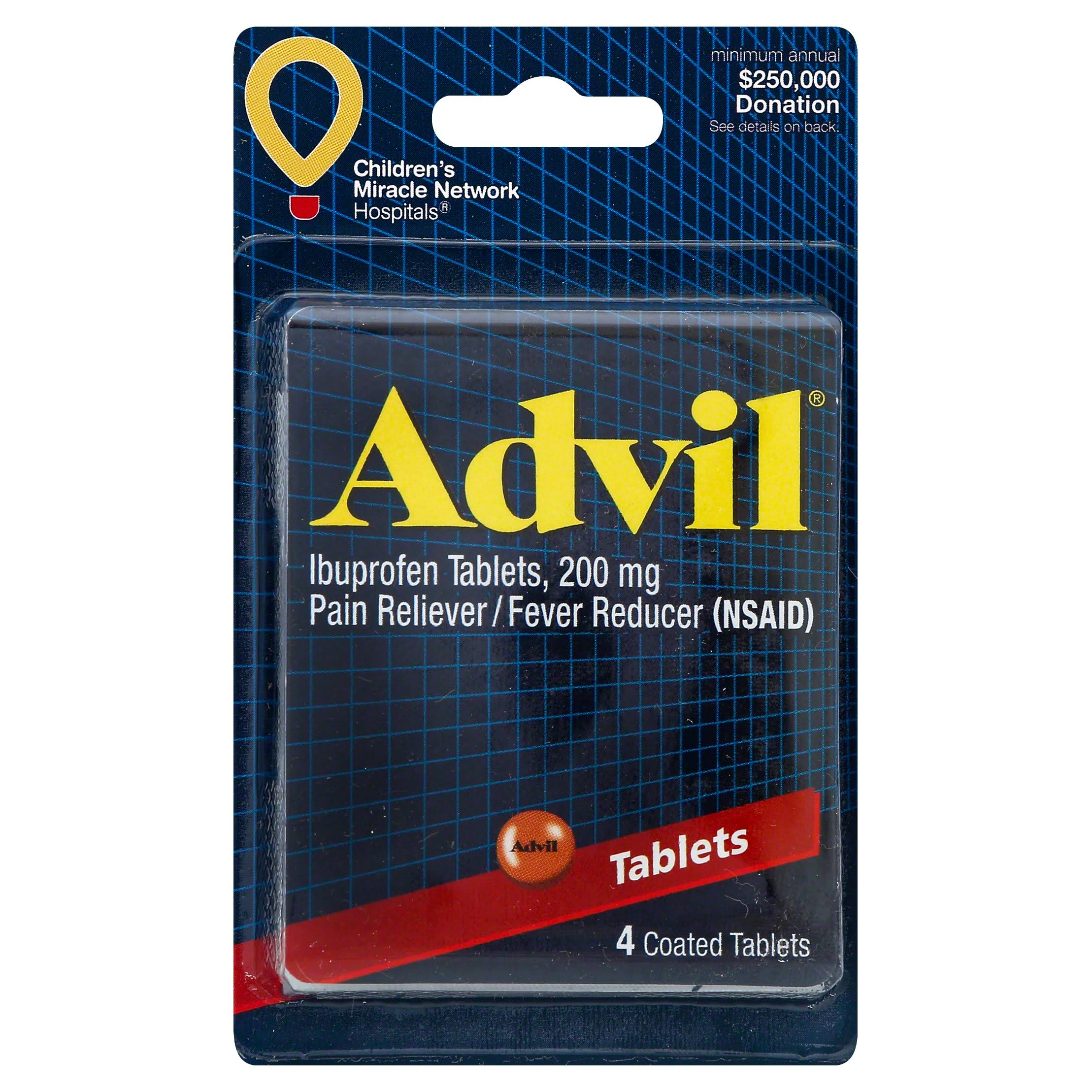 Convenience Valet Advil Pain Reliever - 4 Tablets