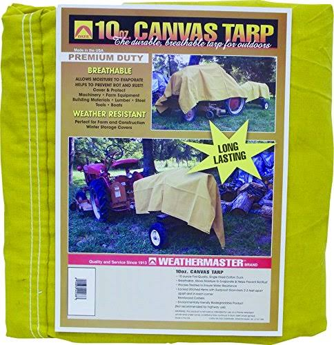 Dize CA1236D Weather Master Canvas Tarpaulin - 12' x 36', 10oz
