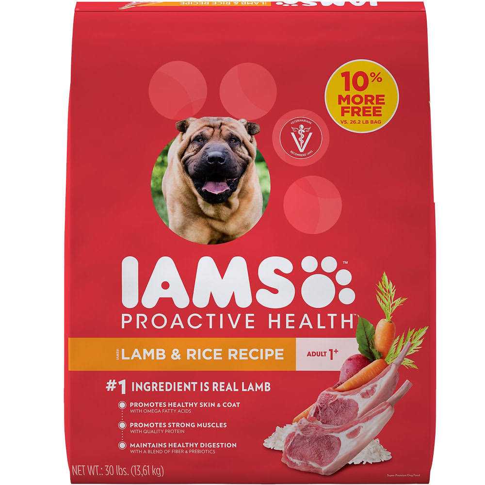 Iams Proactive Health Lamb and Rice Adult Dry Dog Food - 30lbs