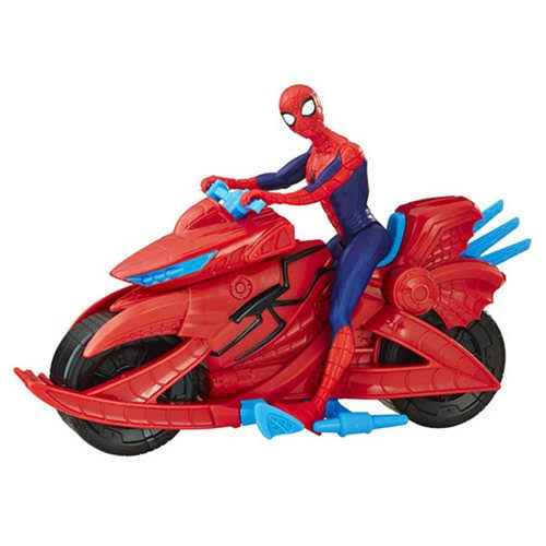 Marvel Figure - Spider-Man with Cycle, 6""