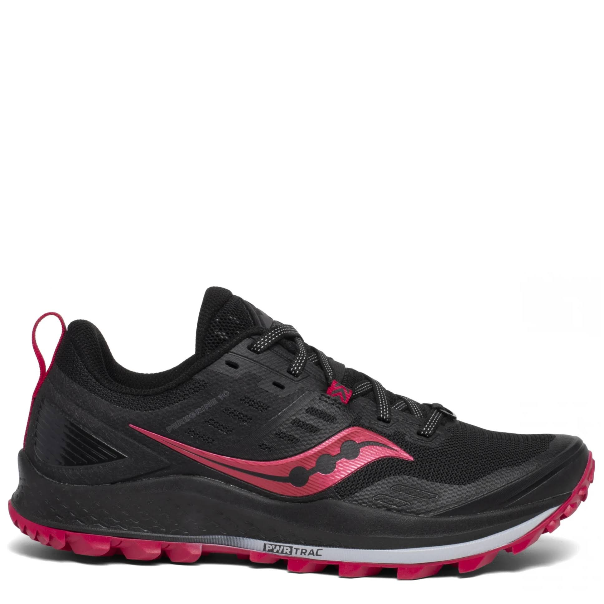 Saucony Peregrine 10 Women's Trail Running Shoes - Black - 9