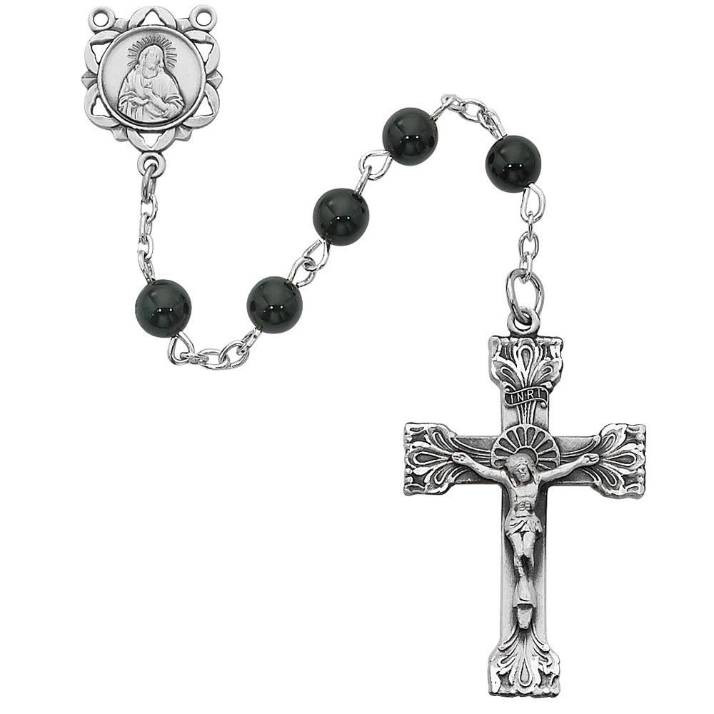 McVan-6mm Genuine Black Onyx Rosary