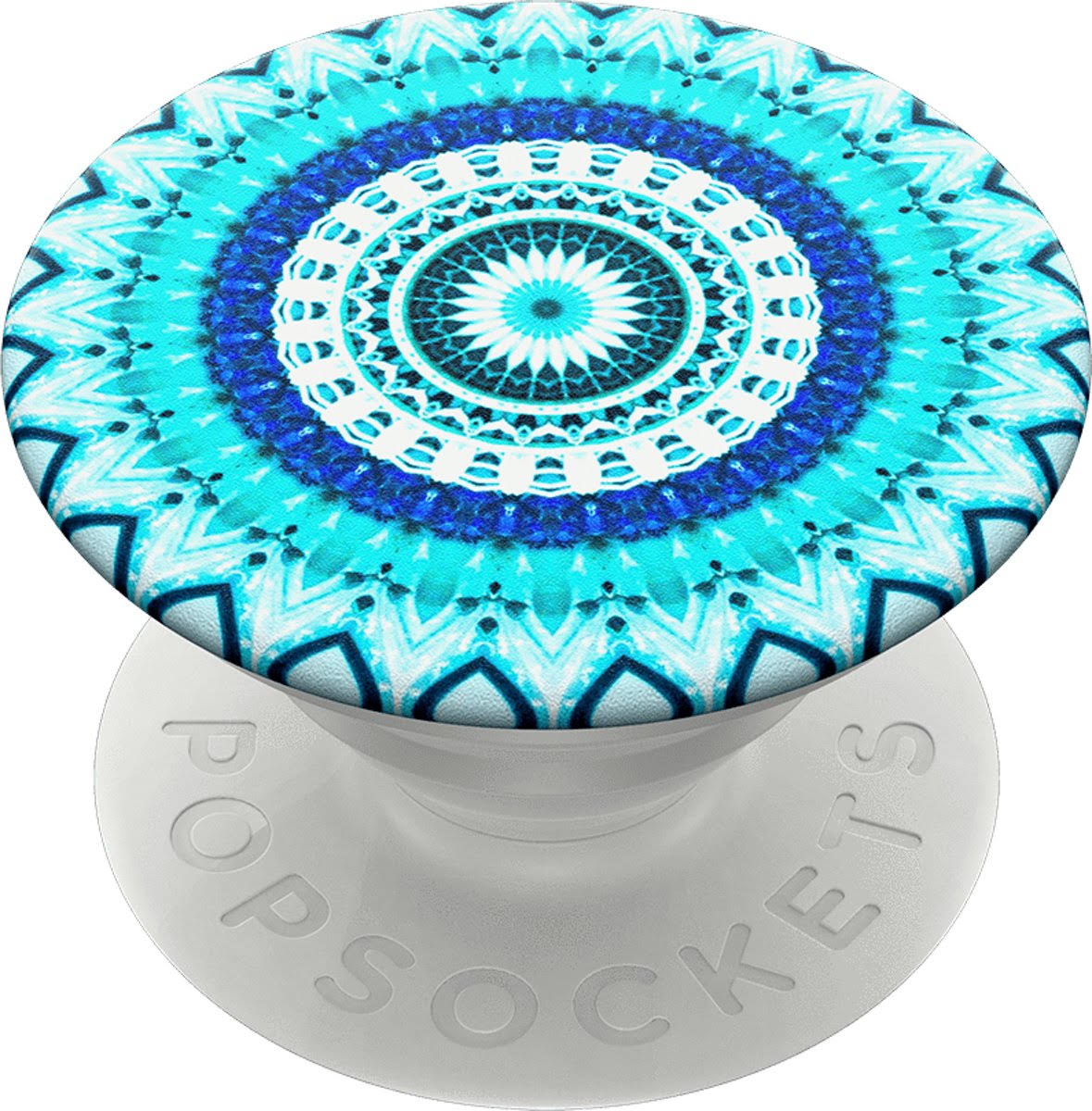 PopSockets Cell Phone Grip - Blue Floral Mandala