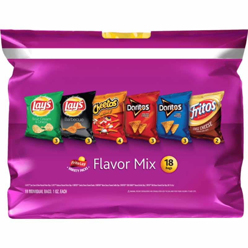 Frito Lay Flavor Mix Snacks Variety Packs - 1oz, 18ct