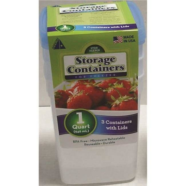 Stor-Keeper Freezer Storage Containers - 3 Containers