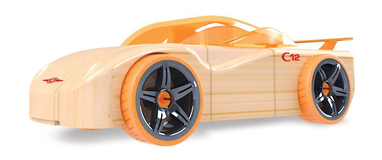 Automoblox Minis C12 Cipher Wooden Customizable Vehicle Toy