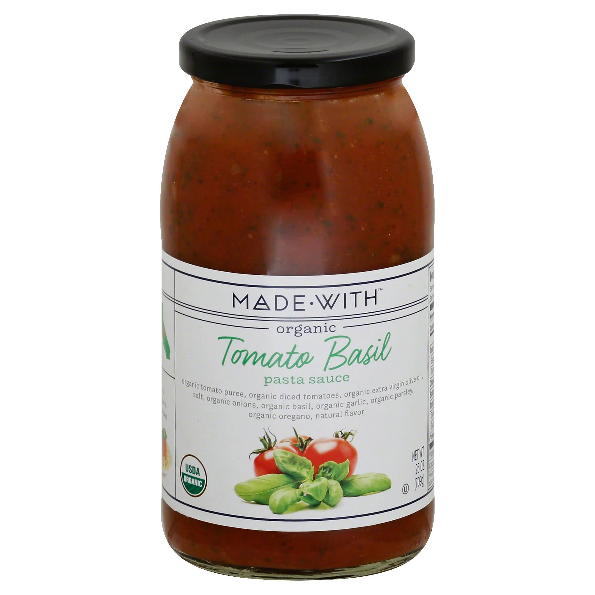 Made With Organic Pasta Sauce - Tomato Basil, 25oz