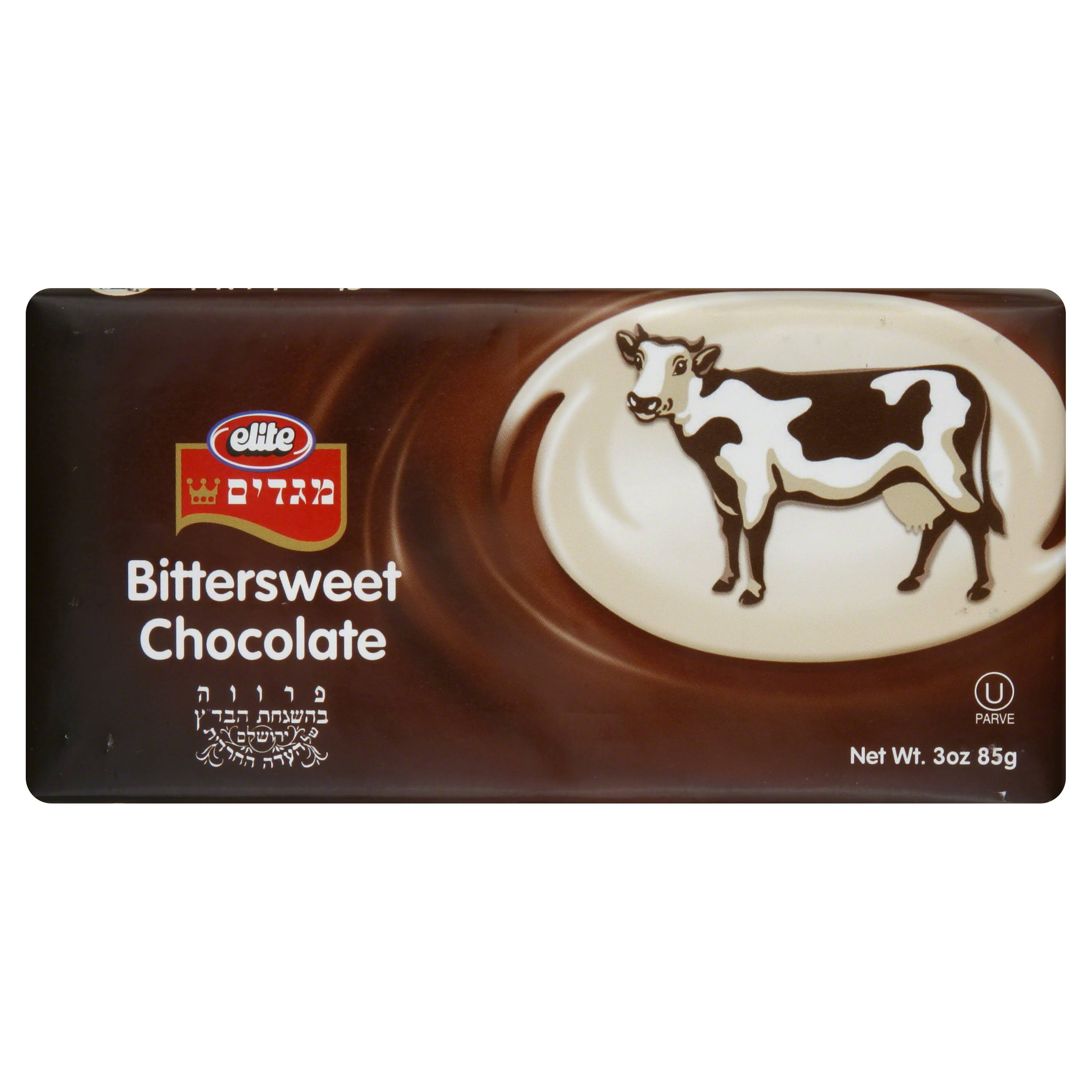 Elite Bittersweet Chocolate Bar - 3.5oz, 12pk