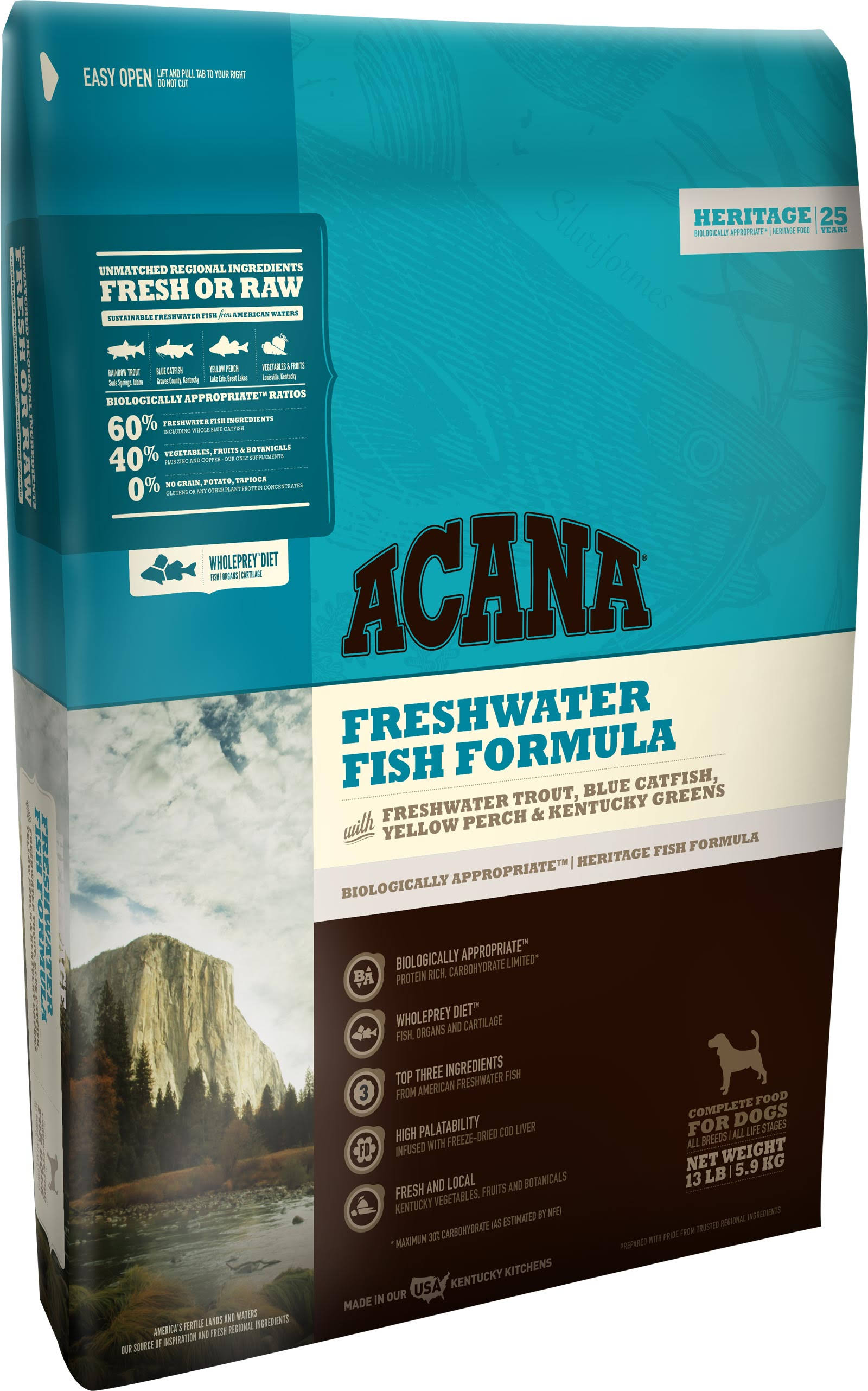 ACANA Freshwater Fish Heritage Dog Food 4.5 lb