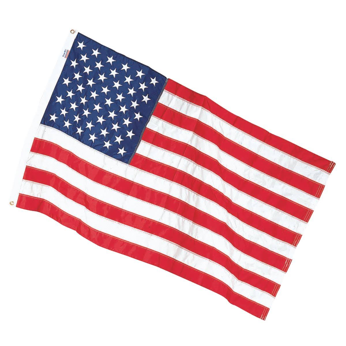Valley Forge Flag Large Nylon US American Flag - 5ft x 8ft