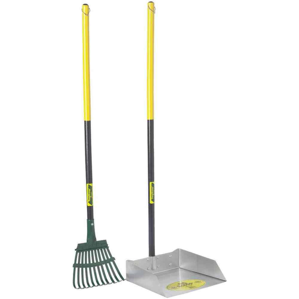 Flexrake Large Scoop & Steel Rake Set - 36""