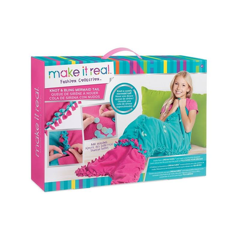Make It Real Knot & Bling Mermaid Tail Blanket Craft Kit