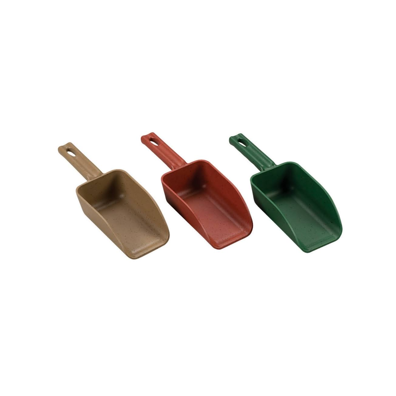 Poly Pro Green Polypropylene Hand Scoop - 2 Cup