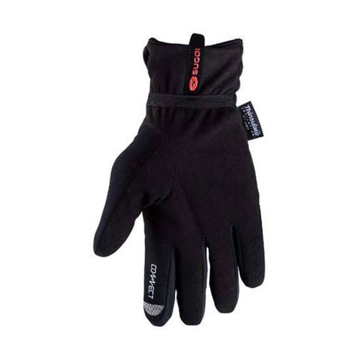 Sugoi RSR Zero Thermal Full Finger Running Gloves - Black, X-Small