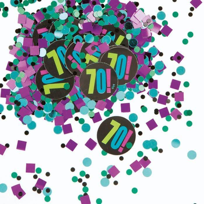 Unique 70th Birthday Confetti