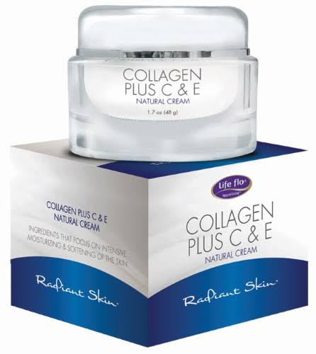 Life Flo Health Collagen Plus C & E Natural Cream