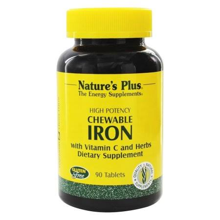 Nature's Plus Iron, Vitamin C & Herbs Dietary Supplement - 90 Tablets