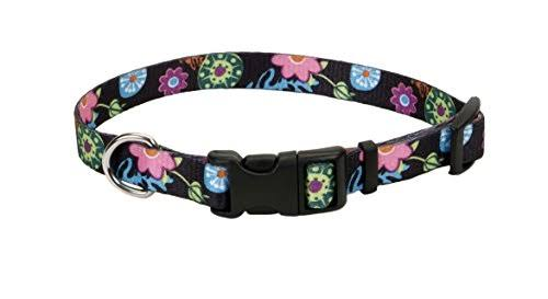 "Pet Attire Styles Adjustable Collar 1"" - Wild Flowers"