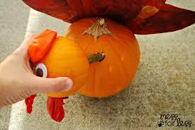 Steps To Carve A Pumpkin Worksheet by Pumpkin Turkey Craft Mess For Less