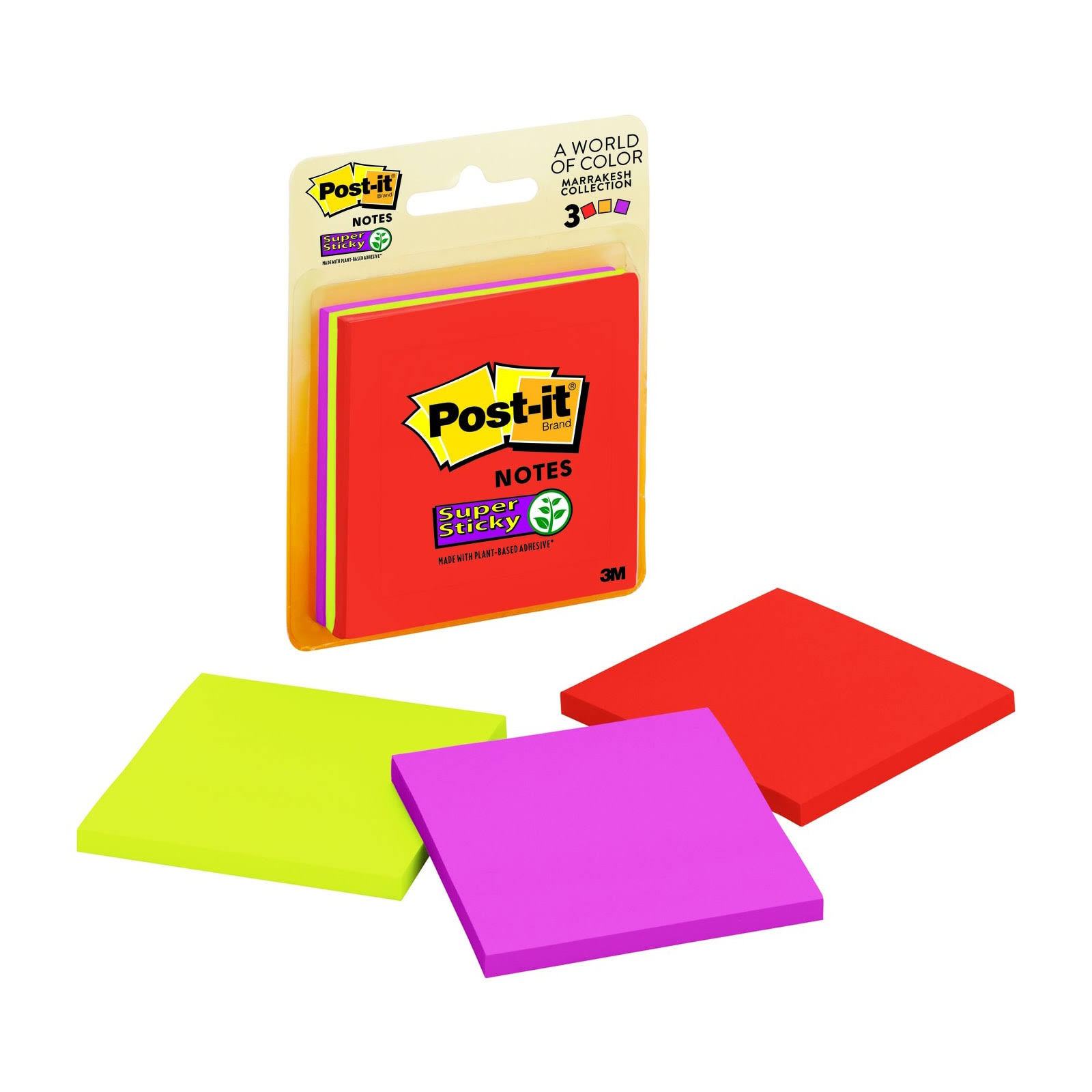 3M Post-it Super Sticky Notes Marrakesh Collection | Assorted 10429932