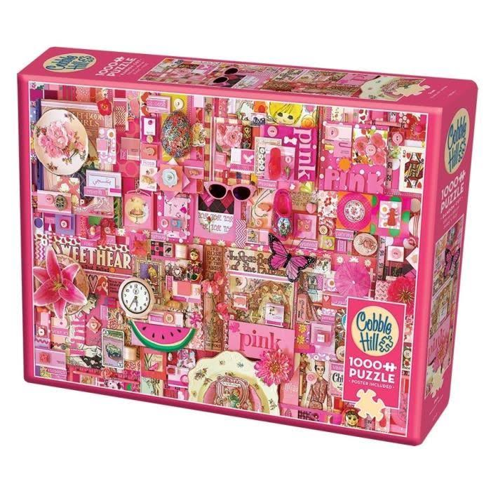 "Rainbow Project - Pink - Jigsaw Puzzle 1000 Pieces 26.625""X19.25"""