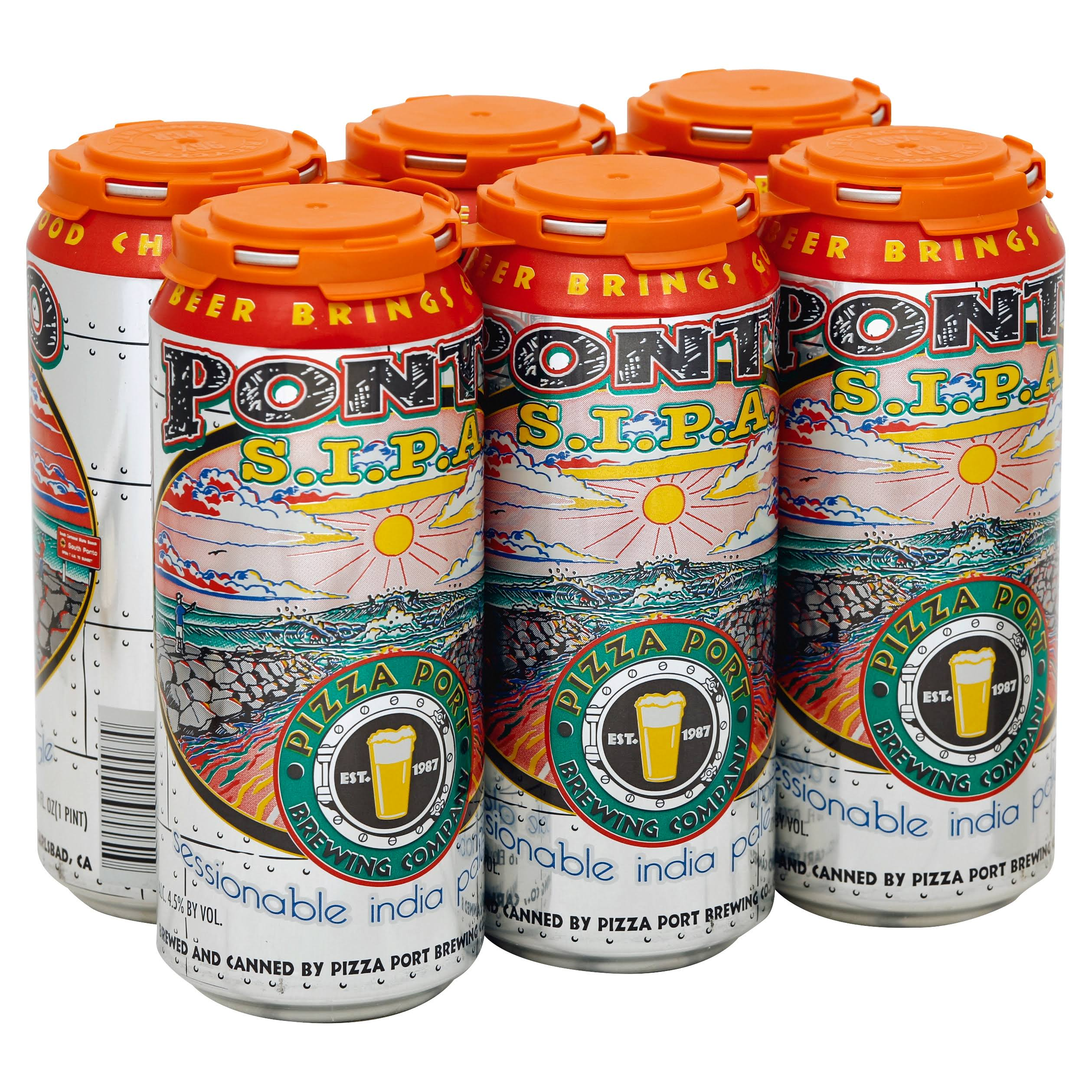 Pizza Port Ponto IPA - 6 pack, 16 fl oz cans