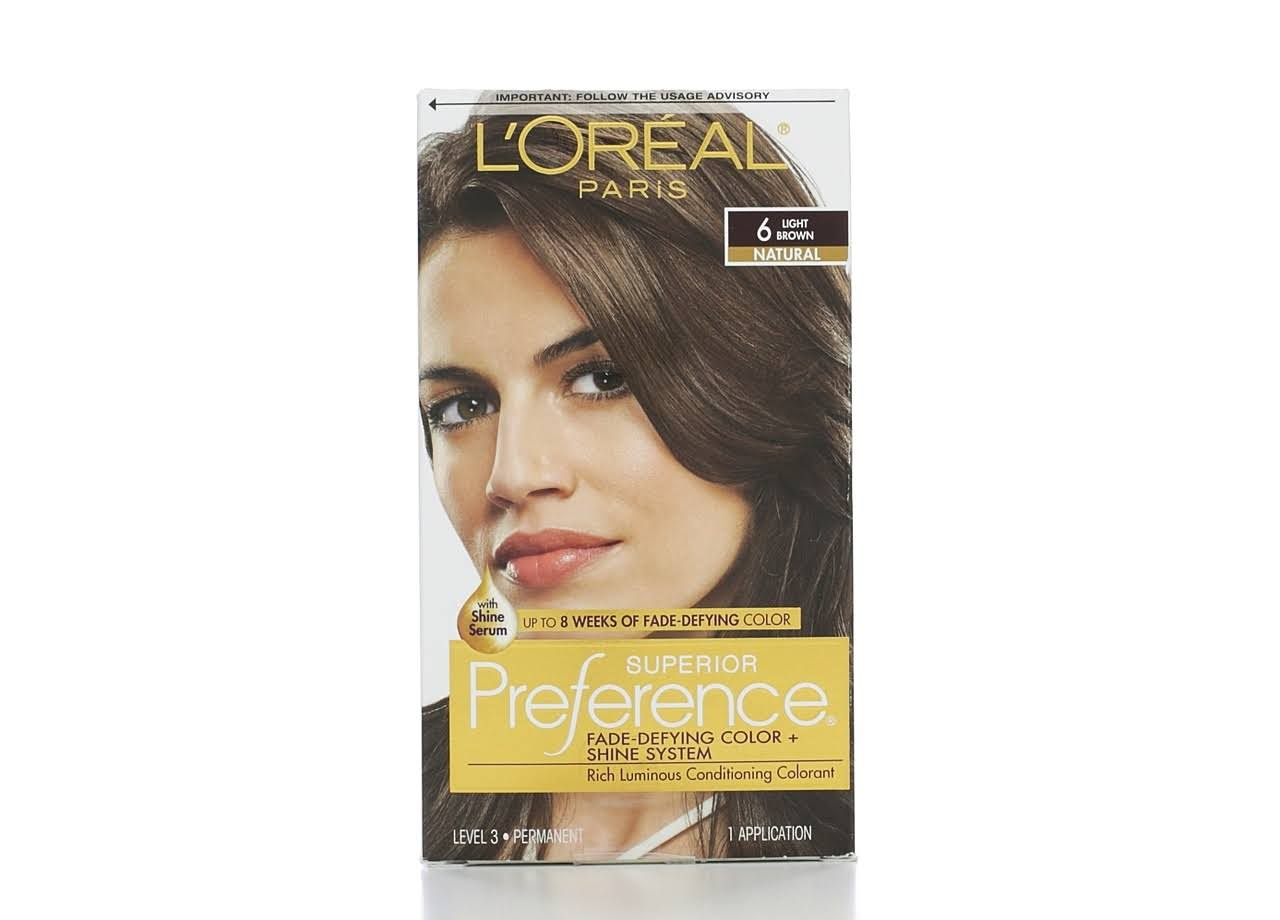 Loreal Superior Preference Hair Color - 6 Light Brown