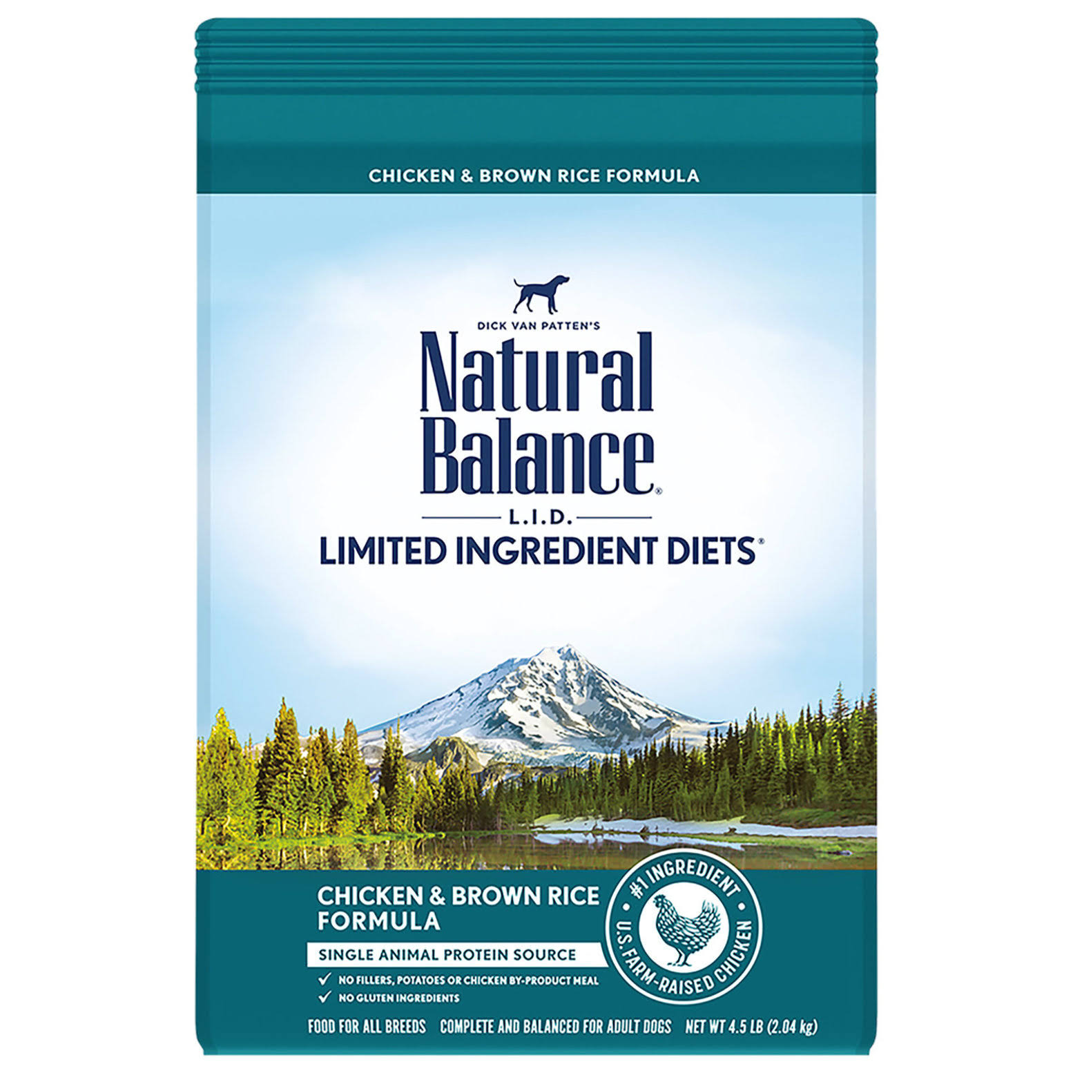 Natural Balance L.I.D. Limited Ingredient Diets Chicken & Brown Rice Formula Dry Dog Food, 12-lb Bag