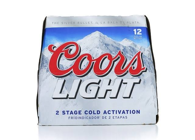 Coors Light Beer - 12oz, 12ct