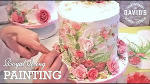 Cake Decorating Books Free by Cake Decorating Hand Painting With Icing Cake Painting
