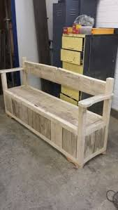 Build Outdoor Storage Bench by Diy Outdoor Pallet Storage Bench Devine Paint Center Blog