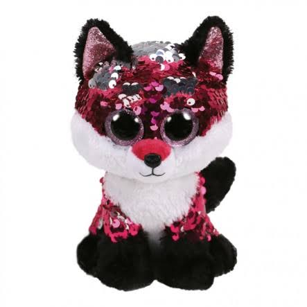 Ty Flippables-Jewel - Sequin Fox Medium 13""