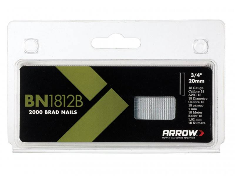 Arrow BN18 Brad Nails - Brown, 20mm, 2000 Nails