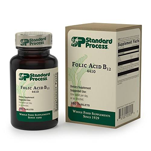 Standard Process - Folic Acid B12 - Folic Acid and Vitamin B12 Supplement, Supports Cellular Health, Circulatory and Nervous Systems, Healthy