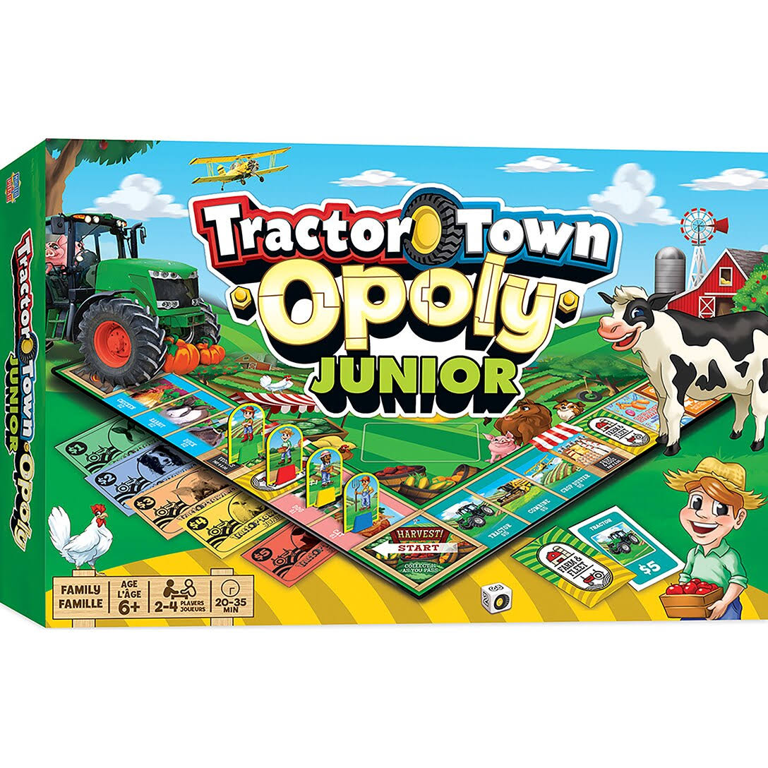 Tractor Town Opoly Junior Board Game