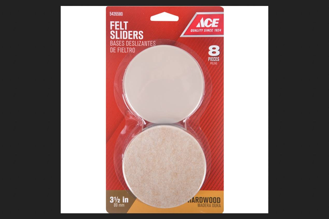 Ace Sliders for Hard and Carpeted Floors - 3 1/2in