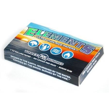 Elements Ultra Thin Rice Rolling Paper - 1-1/4 Size, x300