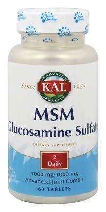 Kal Msm with Glucosamine Sulfate Dietary Supplement - 60ct