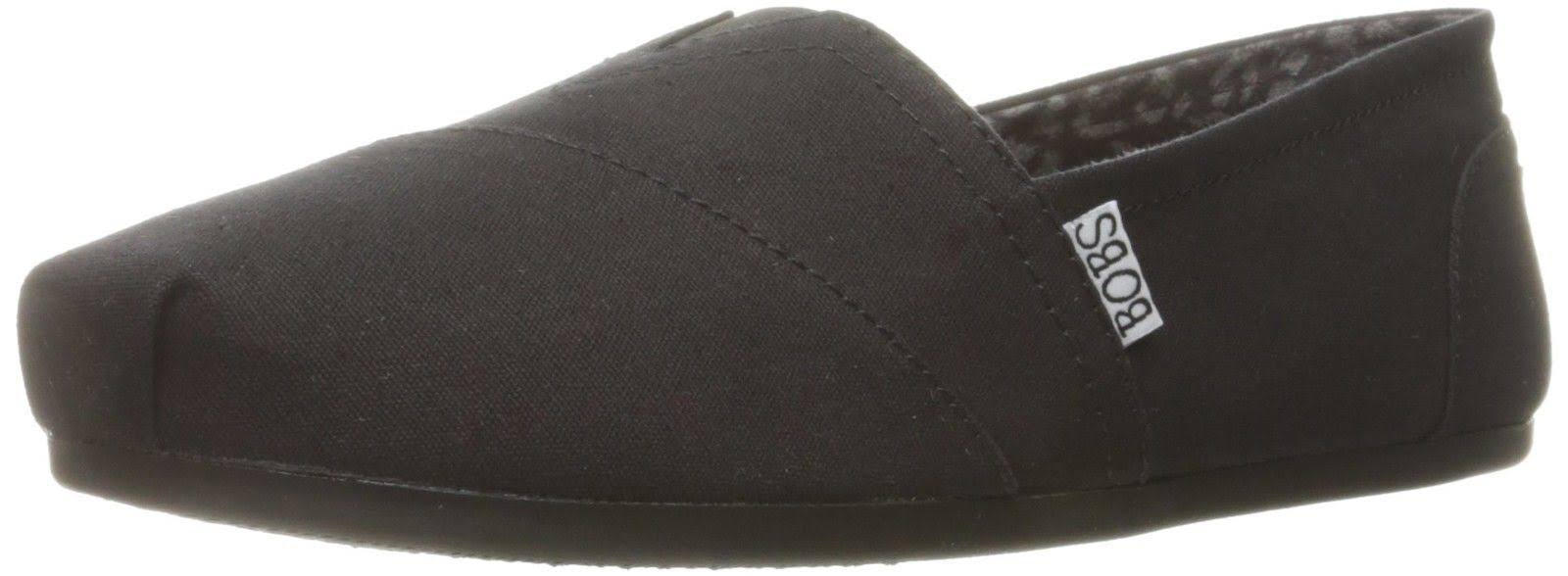Skechers Women's Bobs Plush Peace and Love Flat Shoes - Black, 8 US