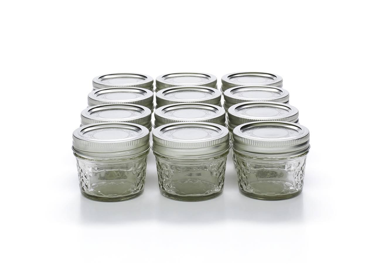 Jarden Home Brands Ball Quilted Crystal Jelly Jar - 4oz, x12