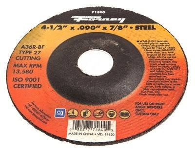 "Forney Industries Cut-Off Wheel - 4-1/2"", Type 27"
