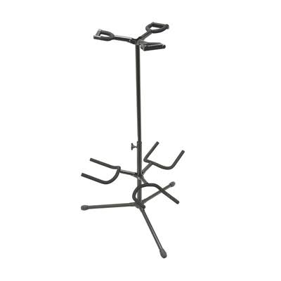 On Stage Deluxe Folding Triple Guitar Stand - 4.95lbs