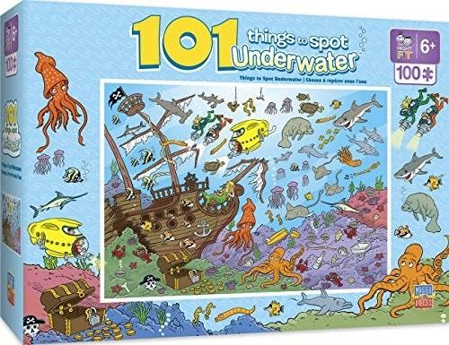 MasterPieces 101 Things to Spot Underwater Right Fit Puzzle - 100 Piece
