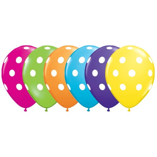 Qualatex Polka Dots Latex Balloon