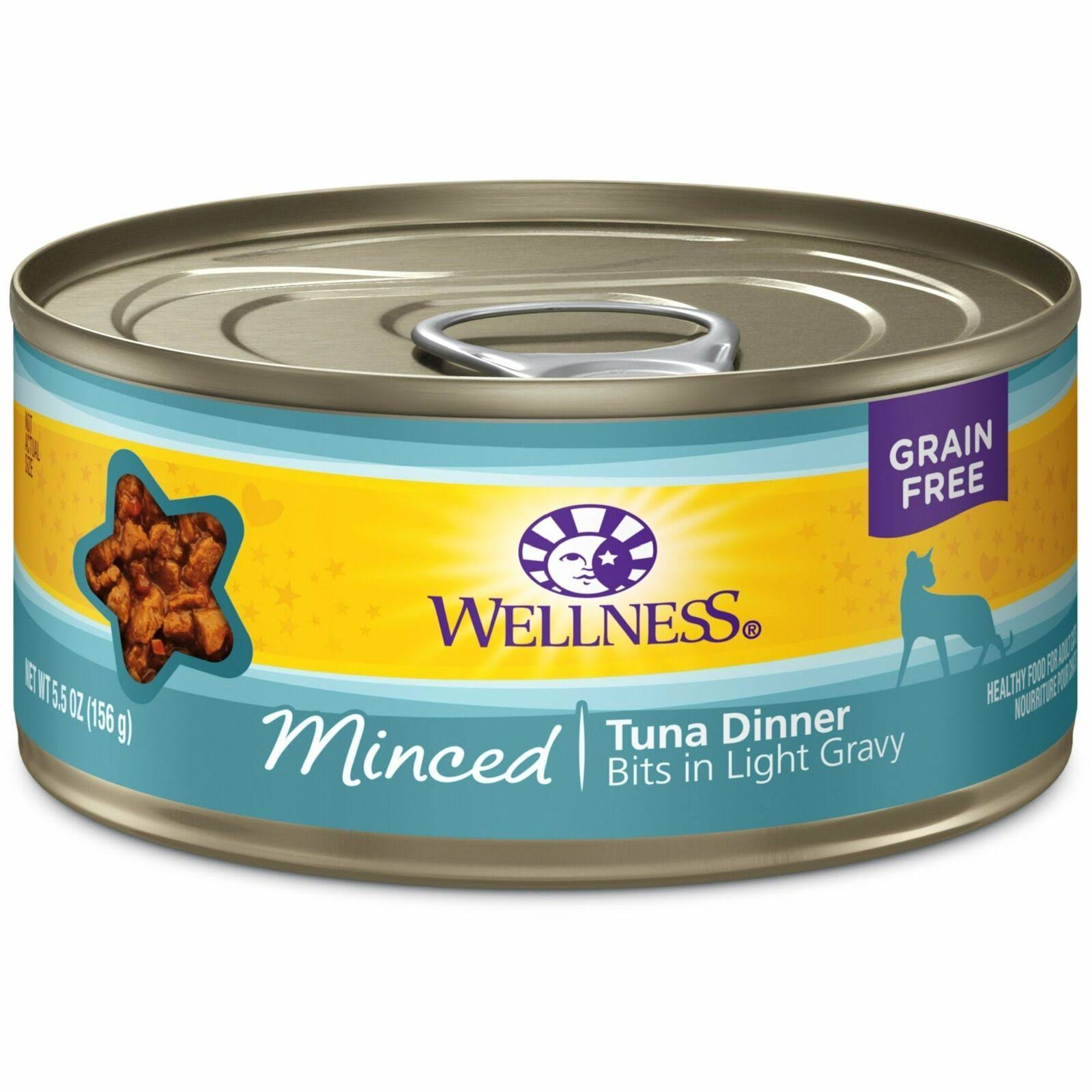 Wellness Natural Grain Free Wet Canned Cat Food - Tuna Dinner